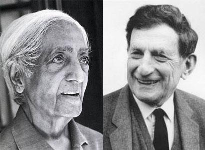 Krishnamurti (à gauche) et David Bohm